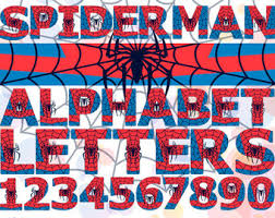 spiderman number etsy