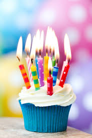 Happy Birthday Cupcake With Candles Delicious 25505wall Gif