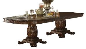 Two Pedestal Dining Table Acme Vendome Double Pedestal Dining Table In Cherry 60000 Special