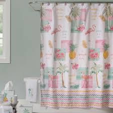 Flamingo Bathroom Flamingo Fever Tropical Shower Curtain