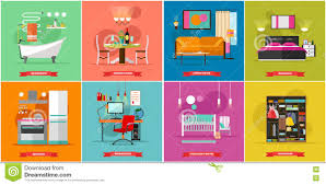 home interior vector home interior vector illustration in flat style stock vector