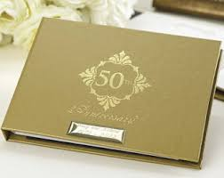 50th anniversary guest book personalized 50th guest book etsy