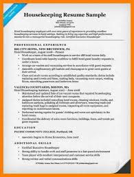 Housekeeping Resume Examples by 4 Hotel Housekeeping Resume Sample Service Letters