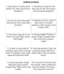 addition word problems grade worksheet addition word problems year 3 wosenly free worksheet