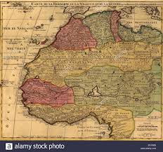 French Map 1742 French Map Of Northwest Africa Identifying Kingdoms And