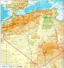 algeria physical map physical map
