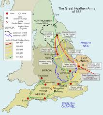 Map Of England And Ireland by Great Heathen Army Wikipedia