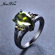 aliexpress buy junxin new arrival black junxin new fashion peridot water drop ring vintage black gold