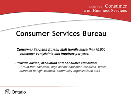 consumer fraud bureau corporate vision to be a responsive innovative leader in
