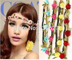 headband flower 100pcs wholesale boho headband flower crown headband 5 flowers