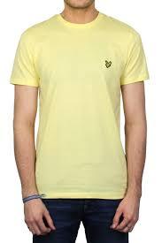 light yellow t shirt lyle scott short sleeved crew neck t shirt pale yellow thirtysix