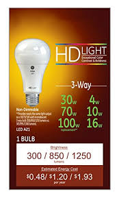 led bulb in 3 way l ge lighting reveal hd led 3 way 16 watt 100 watt replacement 1140