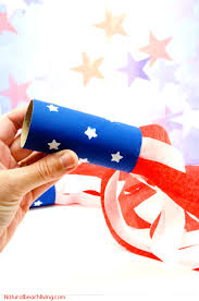 4th of july craft idea patriotic kids blower natural beach living