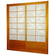 sliding door room dividers oriental furniture bamboo tree shoji sliding door kit hayneedle