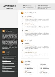 download premium marketing resume cv template