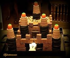 how to make a chocolate halloween ghost castle cake cooking for