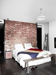 chambre style industrielle maison renovee york chambre style industriel mur briques