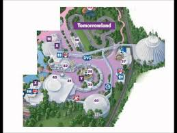 Disney World Map Magic Kingdom by Tomorrowland Disney World Interactive Map Youtube