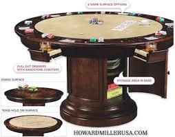 Miller Table Howard Miller Pub U0026 Poker Gaming Table Distressed Cherry 699012 Ithaca