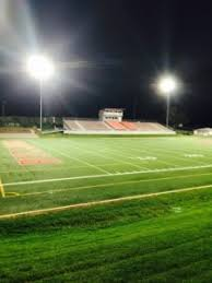 how tall are football stadium lights st clair high upgrades fan experience with led lighting