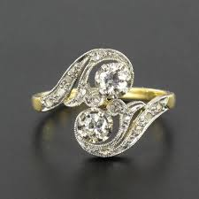 2 s ring 1900s antique diamond gold s shaped ring for sale at 1stdibs