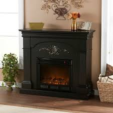 black fireplace tobe a focal point with tuscan color wall interior