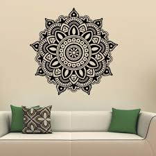 living room wall art mandala flower indian wall art stickers mural home bedroom wall