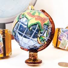 world globe ornament by ornaments to remember