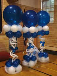 twisted balloon columns blue balloons balloon column balloon