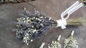 baby s breath bouquet rustic wedding flower girl bouquet lavender bouquet