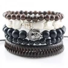 bracelet man onyx images Leopard punk genuine wrap leather bracelets men women onyx lava jpeg