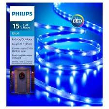 philips led 15 ft blue flat light indoor outdoor wedding deck