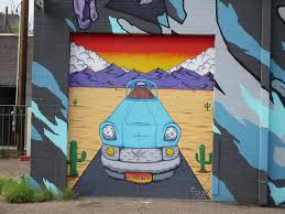 urban street art close up of car in desert mural on exte flickr close up of car in desert mural on exterior wall