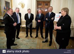u s president barack obama and nordic leaders wait in the state