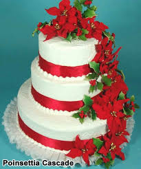 christmas wedding cakes beautiful christmas wedding cake idea