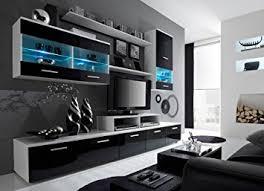Modern Wall Units Living Room by Amazon Com Paris Contemporary Design Wall Unit Modern