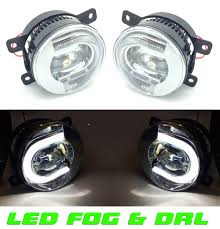 nissan note 2010 for nissan note 2010 front led fog lights u0026 drl pair left