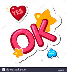 words and phrases popular phrases yes no ok stock vector