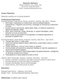 nurse aide resume examples free cna resume cna resume template