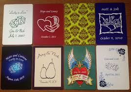 customized cards customized deck of cards wedding cards nation
