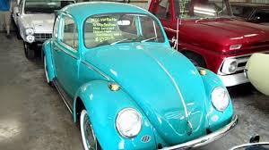 blue volkswagen beetle vintage 1960 vw beetle low original miles and a 1966 beetle restored youtube