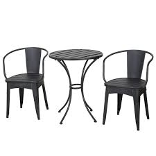 colmar outdoor 3 piece bistro set by christopher knight home shabby