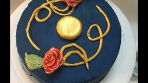 how to make a beauty and the beast cake with fondant roses youtube