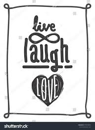 live laugh love simple lettering quote stock vector 377659996