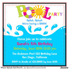 birthday pool party invitations theruntime com