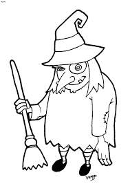 halloween witch coloring pages wallpapers and images clip art