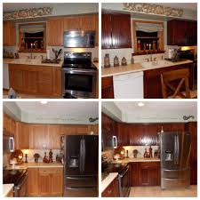 Kitchen Cabinet Restaining Honey Oak Kitchen Restained Using General Finishes Brown Mahogany
