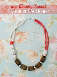 diy necklace bead images Diy chunky beaded statement necklace jpg