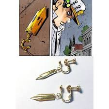 jojo s earrings 1pair jojo s adventure earrings rohan kishibe ear