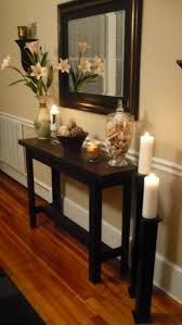 Wood Entry Table Foyer Table And Mirror Set Foter